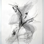 P3883, 2013, graphite on paper, 20.5/8 x 14.3/4 inches (52,5 x 37,5 cm)