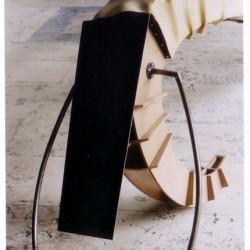 Comma sculpture, 2001 (detail)