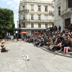"Ève L-J, ""Child's Play"", inaugural performance for ""100 Artistes dans la Ville"", ZAT 2019, curator Nicolas Bourriaud, Molière Theater, Sète, France © Marc Tampis"